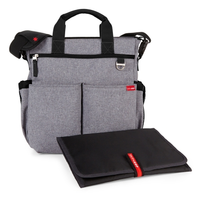 Bolso Skip Hop duo signature heather gray