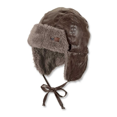 Gorro aviador marrón