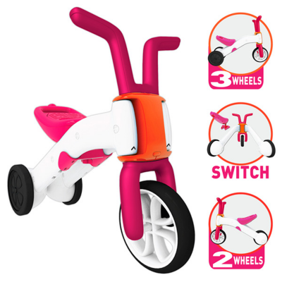 Correpasillos y bicicleta 2 en 1 bunzi stable balance ride-on