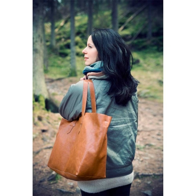 Bolso cambiador Chesnut Leather