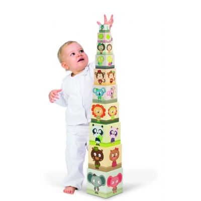 Stackable family pyramid Janod